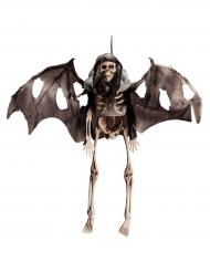 Skelett Halloween-Hängedeko schwarz-beige 40cm
