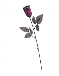 Dunkle Glitzer-Rose Halloween-Dekoration schwarz-lila