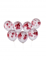 8 blutige Luftballons Halloween 30 cm