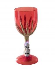Skeletthand Halloween-Kelch Leuchtend rot