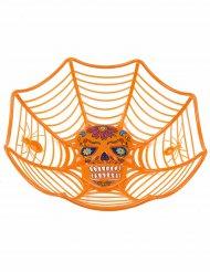 Orange Salatschüssel Spinnennetz 26 cm