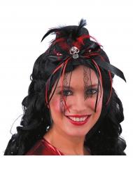 Dia de los Muertos Minihut schwarz-rot