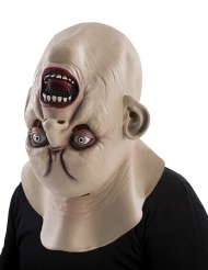 Monster Kopf Horror-Maske für Halloween hautfarbe
