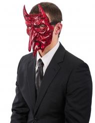 Teufel Halloween-Halbmaske rot-schwarz