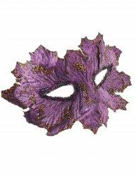 Fantasy Augenmaske Blattmaske lila-gold