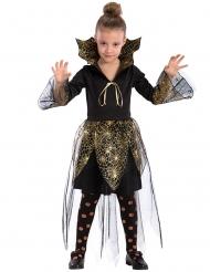 Spinnen-Vampirin Halloween-Kinderkostüm für Mädchen schwarz-gold