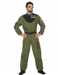 Pilotenkostüm für Herren grün