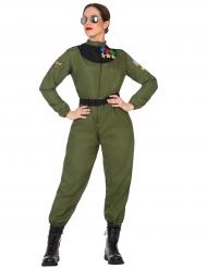 Pilotin-Kostüm für Damen bunt