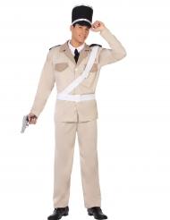 Französischer-Polizist Herrenkostüm beige-schwarz