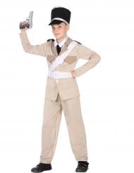 Polizisten-Gendarm Kostüm für Kinder beige