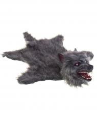 Wolfsfell-Teppich mit Licht- und Soundeffekten 75 x 50 cm