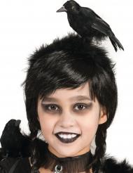 Krähen-Kopfschmuck Halloween-Accessoire schwarz