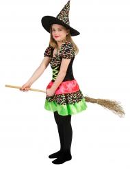 Hexenkostüm gepunktet für Mädchen