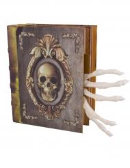 Zauberbuch mit Licht und Ton Halloween-Dekoration 16x20 cm