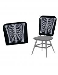 Halloween Stuhl-Husse Skelett 38 x 48 cm schwarz/weiss