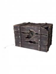 Schatzkiste mit Sound und Licht Deko-Artikel braun 46 x 30 cm