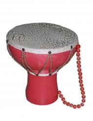 Indianer Trommel Tam Tam Zubehör rot-weiss 26cm
