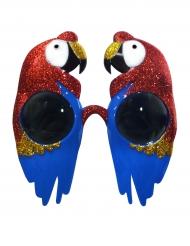 Papageien Brille tierisches-Accessoire bunt