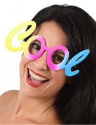Coole Brille Kostümzubehör 80er-Jahre bunt