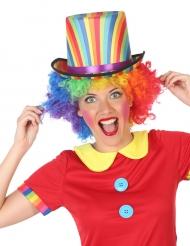 Clown-Zylinder für Erwachsene bunt