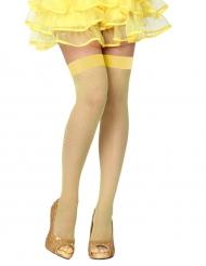 Netzstrümpfe gelb