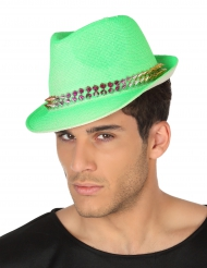 Borsalino-Hut mit Nieten grün