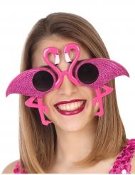 Humorvolle Flamingo Brille für Damen pink