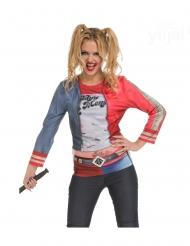 Harlekin Kostümzubehör für Damen Comic blau-rot-weiss
