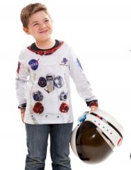 Astronaut Kinder-Shirt weiß-bunt