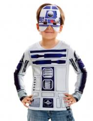 R2D2 Star Wars™ Kinder-Shirt blau-weiß