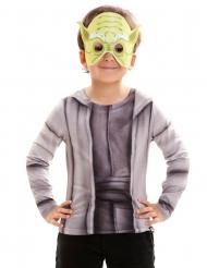 Yoda Star Wars™ Kinder-Shirt grau-beige