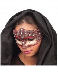 Venezianische Maske mit Verzierung bunt für Damen