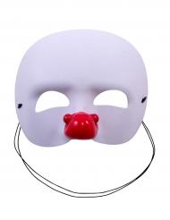 Clownsmaske weiss für Kinder