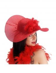 Eleganter Hut rot für Damen