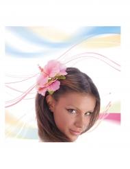 Haarteil rosa Blume
