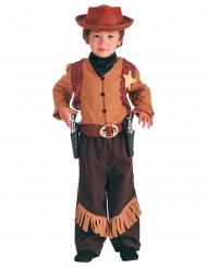 Western Cowboy Kinderkostüm braun-gold