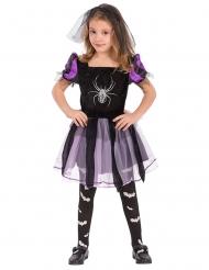 Hexenkostüm mit Spinne für Mädchen