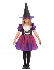 Hexenkostüm für Mädchen lila