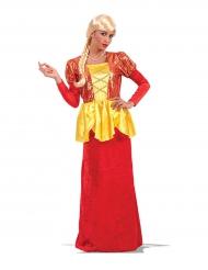 Scarlett-Kostüm für Damen rot-gelb