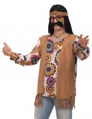 Hippie-Erwachsenenkostüm braun