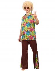 Hippie-Herrenkostüm mit Blumen