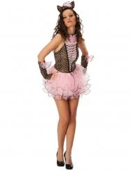 Sexy Pink-Panther-Kostüm für Damen