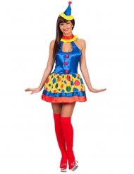 Süße Clownsfrau-Damenkostüm Zirkus bunt