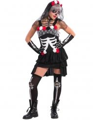 Skelett Kostüm für Damen Dia de los Muertos