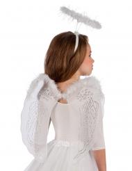 Himmlisches Kostüm für Mädchen Engel weiss