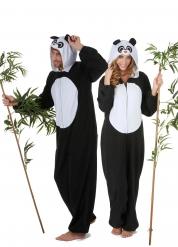 Panda Paarkostüm für Erwachsene schwarz-weiss
