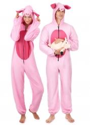 Schweine-Kostüm für Paare pink-rosa