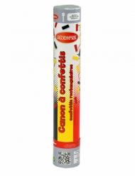 Fanartikel Konfetti-Kanone Fussball schwarz-rot-gelb 30cm