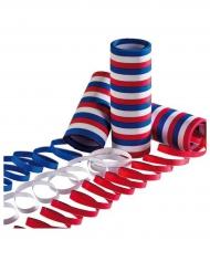 Luftschlangen in Frankreich-Farben blau-weiss-rot