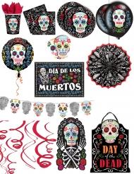 Dia de los Muertos Deko-Set Premium Halloween bunt